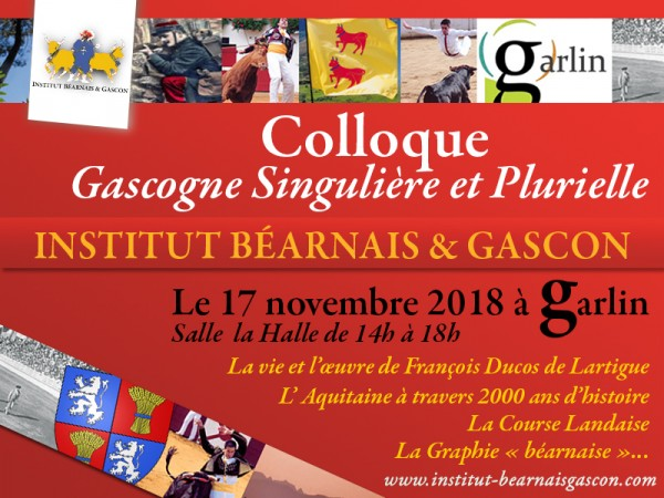 COLLOQUE GASCOGNE à GARLIN (17.11.2018)
