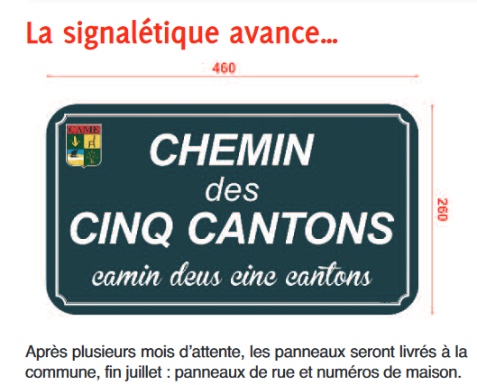 Signalisation bilingue à Came (64)